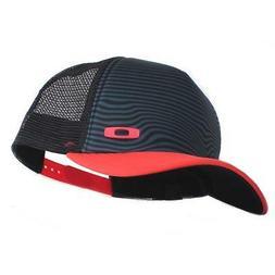 Oakley Crater Trucker Cap Black Red Mens Womens Adjustable B