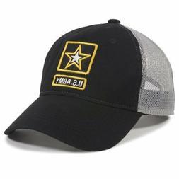 Outdoor Caps US Army Hat Adult Mesh Back Cap Navy/Grey Truck