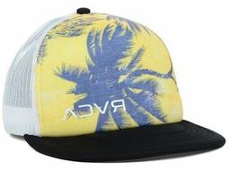 RVCA Men's Palms Trucker Hat Cap - Yellow/Black