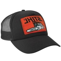 "STIHL Chainsaws *BLACK ""PATCH"" TRUCKER MESH* HAT CAP *BRAND"