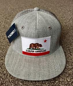 State of CALIFORNIA Flag Hat Decky SnapBack Flat Brim Trucke