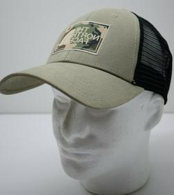 The North Face Mudder Trucker Hat Dune Beige/Black Camo Logo