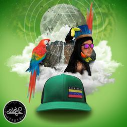 Trucker Hat Venezuela Mystic Jungle GREEN NEW 5 panels Richa