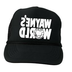 WAYNE'S WORLD TRUCKER HAT ~ BLACK MESH CAP ~ FUNNY HALLOWEEN