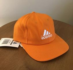 Adidas Adjustable Hat Orange - 100% Cotton - NEW WITH TAGS!