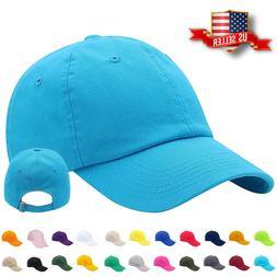 Mens Adjustable Cotton Baseball Caps Dad Hat Washed Ball Cap