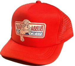 Adult Bubba Gump Red Halloween Costume Mesh Snapback Trucker