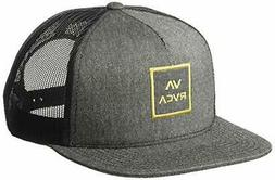 RVCA All the Way Trucker Hat Charcoal Heather Gold Snap Back