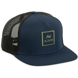 RVCA All the Way Trucker Hat Navy Blue Black Snap Back Cap S