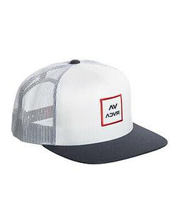 RVCA All the Way Trucker Hat Red White Blue Snap Back Cap Sn