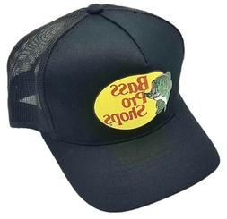 Authentic Bass Pro Shops Logo Mesh Trucker Hat - Black