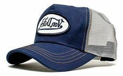 Authentic New Von Dutch Adult Gray Navy Baseball Cap Hat Tru