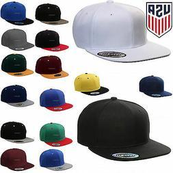 Baseball Cap Plain Snapback Adjustable One Size Trucker Hat