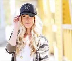 Baseball Cap Snap Back Bone Life Hat Outdoor Leisure Mama Tr