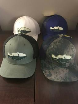 bass patch trucker hat stretch back multiple