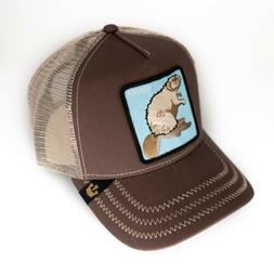 Goorin Bros Mens Beaver Baseball Cap Hat Brown One Size Patc