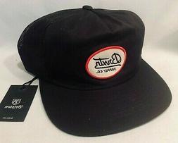 BRIXTON BEDFORD TRUCKER STYLE SNAPBACK BLACK HAT CAP *SHIPS
