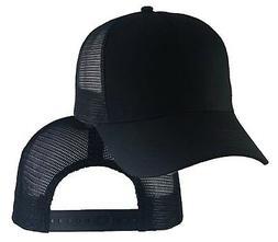 Big Size Black Trucker Mesh Cap  2XL - 4XL  Adjustable BIGHE