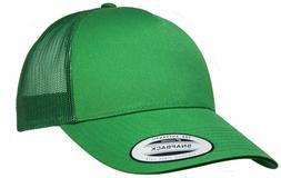Big Size Green Yupoong® Trucker Mesh Cap  2XL - 4XL Adjust