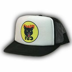 Black Cat Fireworks Trucker Hat 4th of July Vintage 80's S