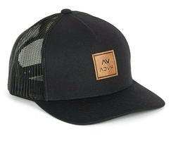 RVCA Black VA All The Way Snapback Trucker Cap. One Size. NW