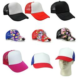 5852c245a488d Blank Baseball Cap Men Hat Women Plain Adjustable Mesh Truck