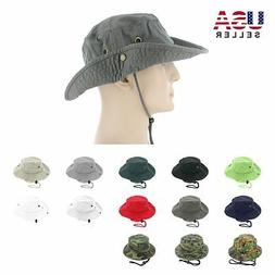Boonie Bucket Hat Cap 100% Cotton Fishing Military Hunting S