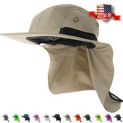 Boonie Snap Hat Brim Ear Neck Cover Sun Flap Cap Visor Fishi