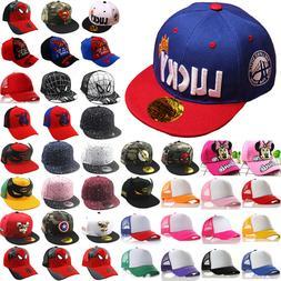 Boy Girl Children Baseball Hat Kid Hip Hop Snapback Trucker