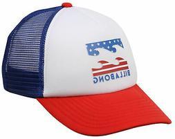 Billabong Boy's Podium Trucker Hat - Red / White - New