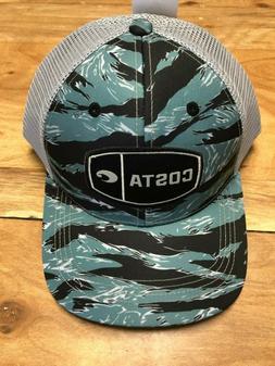 BRAND NEW COSTA DEL MAR MESH ADJUSTABLE CAP HAT  TIGER CAMO