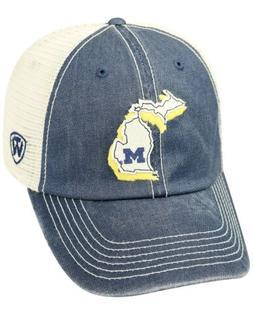 Brand New Michigan Wolverines Top of the World Trucker Hat C