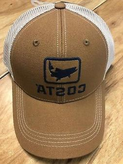 BRAND NEW COSTA DEL MAR TROUT TRUCKER CAP HAT  BROWN   - HOT