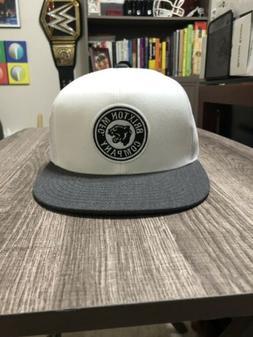 Brixton Supply Co Flatbill Snapback Trucker Style Hat - Whit