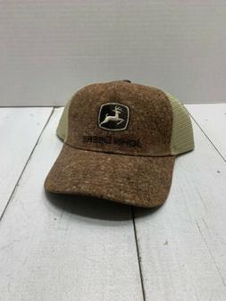 John Deere Brown Cork trucker hat snapback Deere Season New