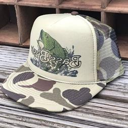 Bass Buster Fishing Vintage 80's Trucker Hat Snapback Dese