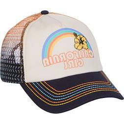 uk availability 6c462 04f58 California Girl Trucker Snapback Hat - Vintage Cream with Ra