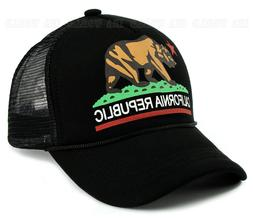 California Republic hat BEAR Logo Foam Mesh Trucker Snapback