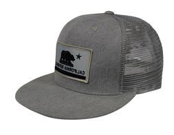 California Republic Trucker Hat by LET'S BE IRIE - Gray Deni