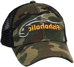 836f9c6180baf Fishoholic Camo Baseball Fishing Hat ~ 6 Colors   3 Sizes.