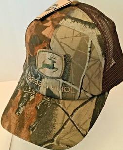 John Deere Camo Brown / Green Trucker Mesh Snapback Hat