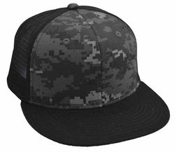 DECKY Camo Flat Bill Trucker, Black/Night
