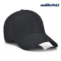 Casual Letter M Black Solid Baseball Caps Men Women Outdoor