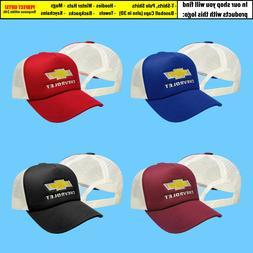 Chevrolet Trucker Mesh Baseball Cap Embroidered Car Logo Adj