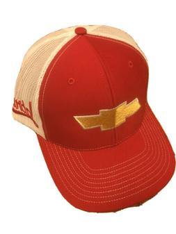 CHEVY CHEVROLET Brand New Red With Gold Logo White mesh truc