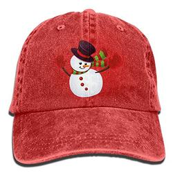 Christmas Snowman Cartoon Unisex Denim Jeanet Baseball Cap A