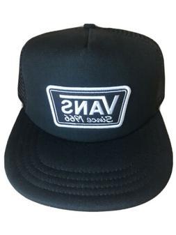 VANS Classic 1966 Snapback Trucker Mesh Hat Cap - Black / Wh