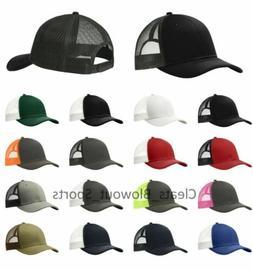Classic Trucker Hat Snapback Ball Cap Twill Mesh-back OSFA R