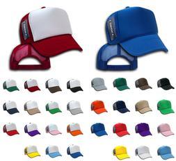 Decky Classic Trucker Hats Caps Foam Mesh Two Tone Blank Pla