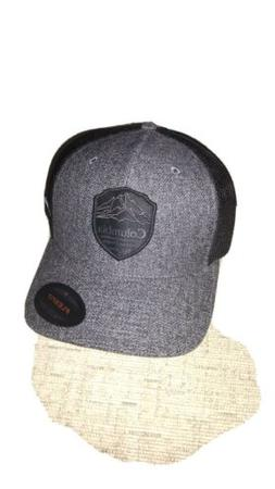 Columbia Flex Fit Fitted Hat Cap Black Trucker Large Extra L